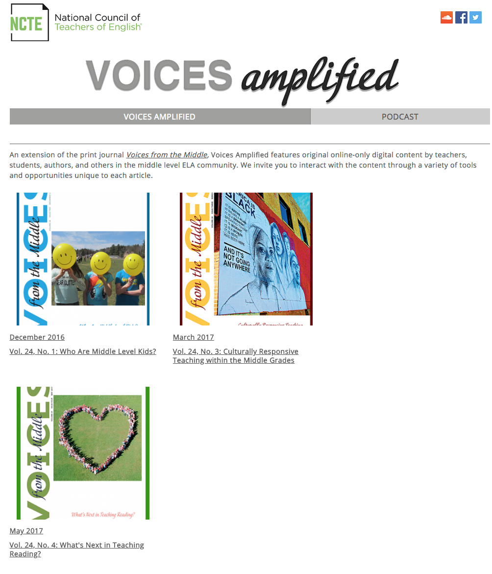 Voices from the Middle | Social annotation: Multiple perspectives for deeper reading